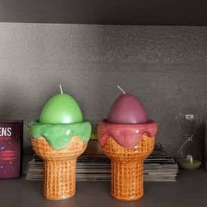Cute ice cream candle holder/ or trinkets